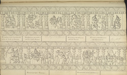 Narrative sculpture on the south side of the Amritesvara Temple at Amritpur, 1805. Sixth panel of the Ramayana frieze